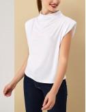 Μπλούζα αμάνικη ντραπέ με βάτες FOREL