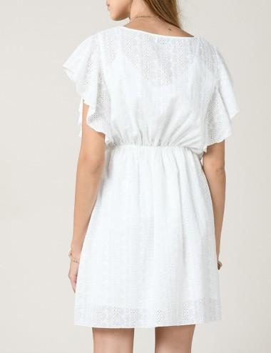 Φόρεμα με μπροντερί και βολάν MOLLY BRACKEN