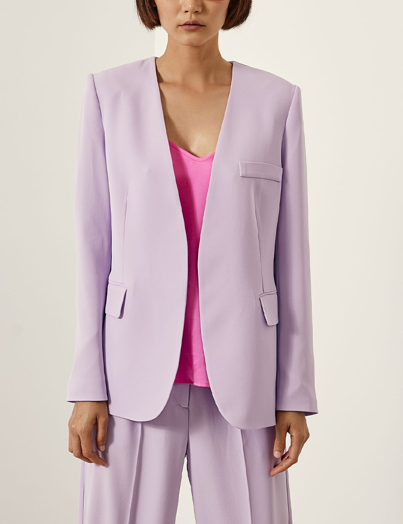 Κοστούμι από κρεπ με ζώνη  ACCESS FASHION