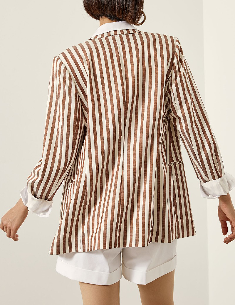 Κοστούμι ριγέ σταυροκουμπωτό ACCESS FASHION