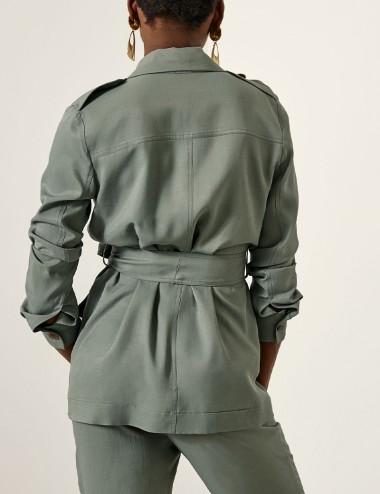Σακάκι με τσέπες και επωμίδες ACCESS FASHION