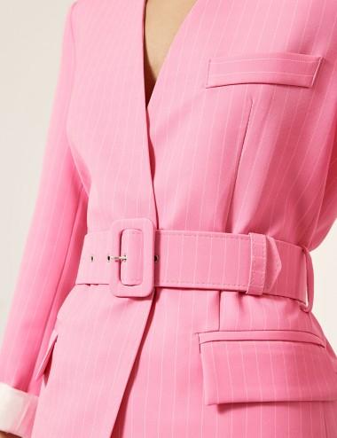 Κοστούμι pinstripe με ζώνη ACCESS FASHION