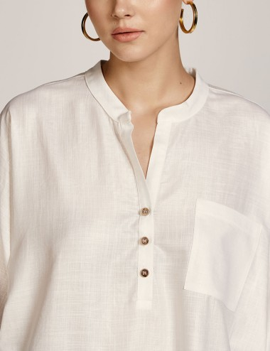Μπλούζα με κουμπιά και τσέπη ACCESS FASHION