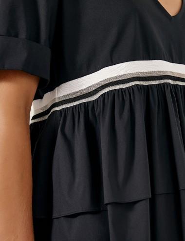 Μπλούζα βαμβακερή με βολάν ACCESS FASHION