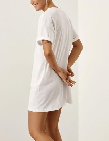 Βαμβακερή μακριά μπλούζα με στάμπα EIGHT by ACCESS FASHION