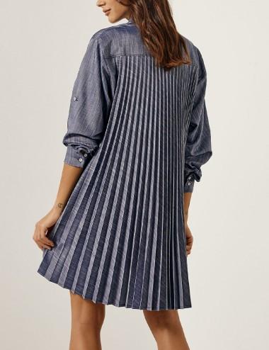 Φόρεμα σεμιζιέ με πλισέ πίσω EIGHT by ACCESS FASHION