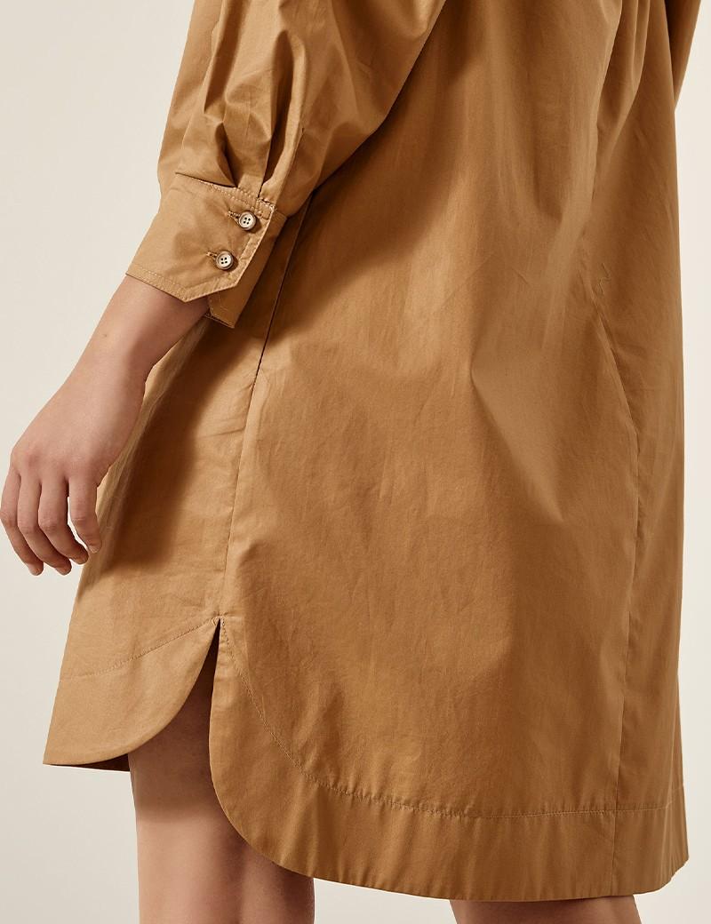 Φόρεμα βαμβακερό με τετράγωνη λαιμόκοψη EIGHT by ACCESS FASHION