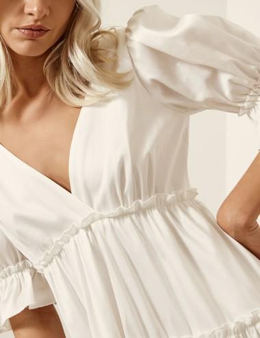Φόρεμα βαμβακερό με βολάν ACCESS FASHION