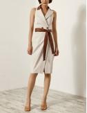 Φόρεμα σταυροκουμπωτό με άνοιγμα στην πλάτη ACCESS FASHION