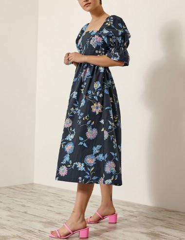 Φόρεμα φλοράλ με κόμπο στην πλάτη EIGHT by ACCESS FASHION
