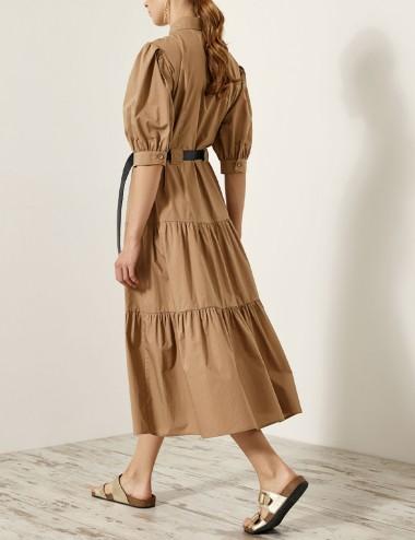 Φόρεμα με τσέπες και βολάν EIGHT by ACCESS FASHION