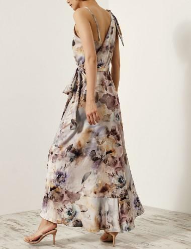 Φόρεμα φλοράλ κρουαζέ ACCESS FASHION