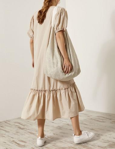 Φόρεμα βαμβακερό με φουσκωτά μανίκια EIGHT by ACCESS FASHION