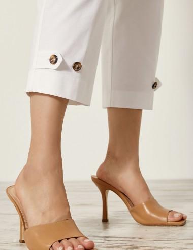 Παντελόνι από βαμβάκι με κουμπιά κάτω ACCESS FASHION
