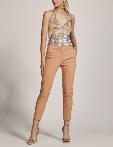 Παντελόνι ίσιο με άνοιγμα κάτω ACCESS FASHION