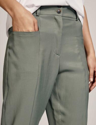 Παντελόνι cropped με τσέπες μπροστά ACCESS FASHION