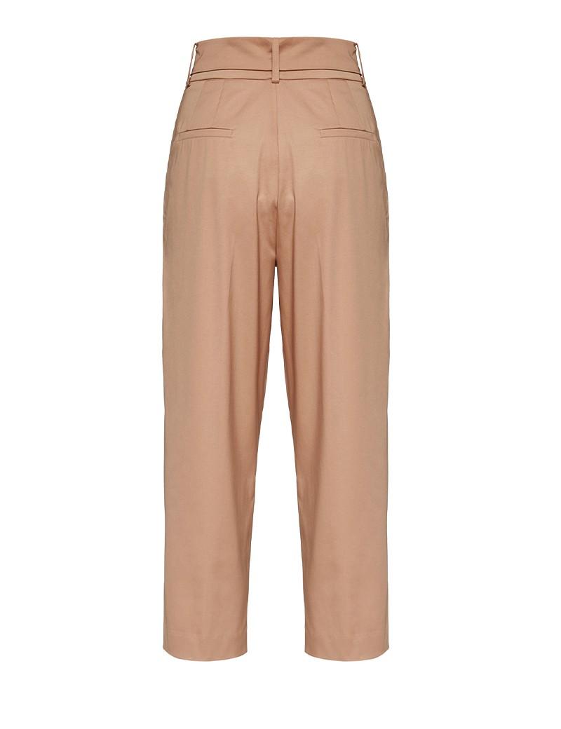 Παντελόνι από βαμβάκι με κουφόπιετες και ζώνη SPELL by ACCESS FASHION