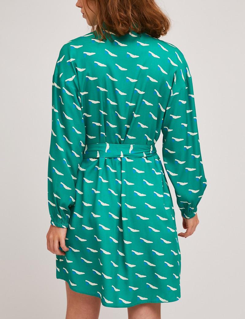Φόρεμα μίνι σεμιζιέ με print γόβες COMPANIA FANTASTICA