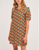 Φόρεμα σάκος με print SP21HAN05 COMPANIA FANTASTICA