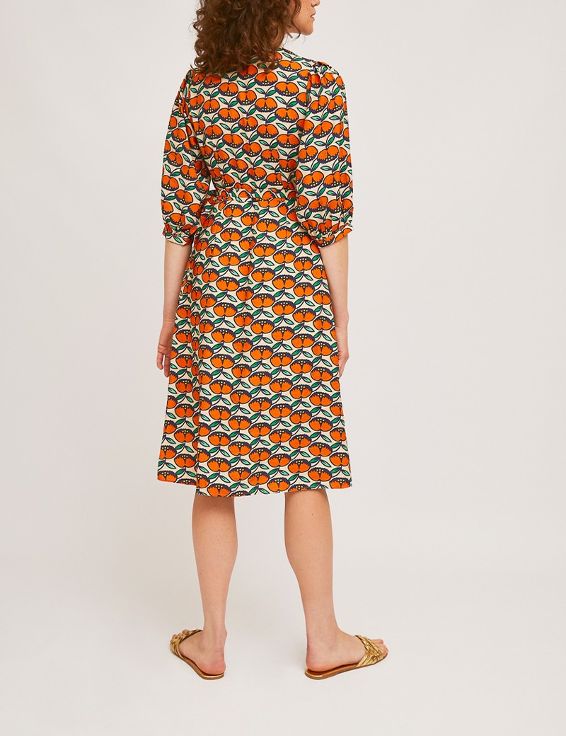 Φόρεμα κρουαζέ με print SP21HAN06  COMPANIA FANTASTICA