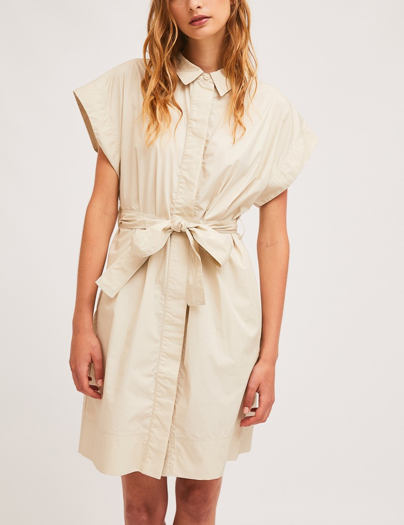 Φόρεμα βαμβακερό σεμιζιέ με ζώνη SP21HAN49  COMPANIA FANTASTICA