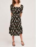 Φόρεμα μίντι βαμβακερό με βολάν COMPANIA FANTASTICA