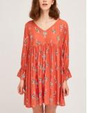 Φόρεμα σε γραμμή άλφα με print SP21HAN79 COMPANIA FANTASTICA