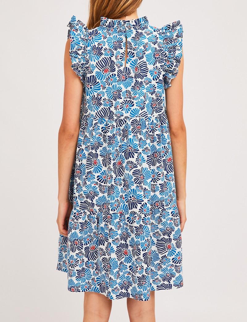 Φόρεμα μίνι βαμβακερό με φλοράλ print COMPANIA FANTASTICA