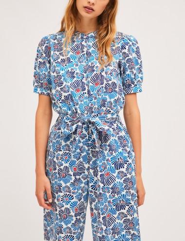 Φόρμα ολόσωμη φλοράλ βαμβακερή COMPANIA FANTASTICA