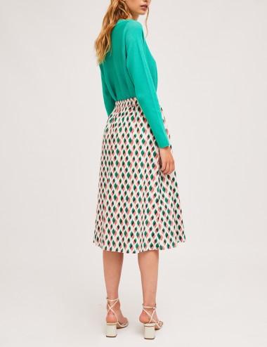 Φούστα μίντι βαμβακερή με λάστιχο στη μέση COMPANIA FANTASTICA