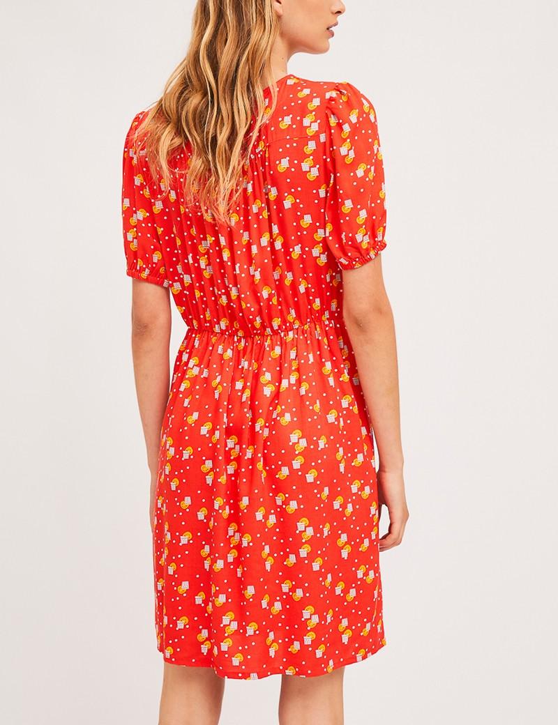 Φόρεμα με print και λεπτομέρειες δαντέλας  COMPANIA FANTASTICA