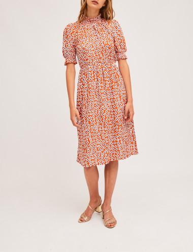 Φόρεμα μίντι με όρθιο λαιμό COMPANIA FANTASTICA