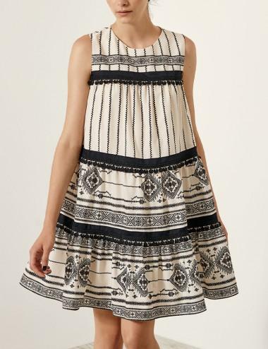 Φόρεμα με έθνικ μοτίβο SPELL by ACCESS FASHION