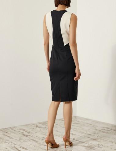 Φόρεμα pencil με συνδυασμό υφάσματος ACCESS FASHION