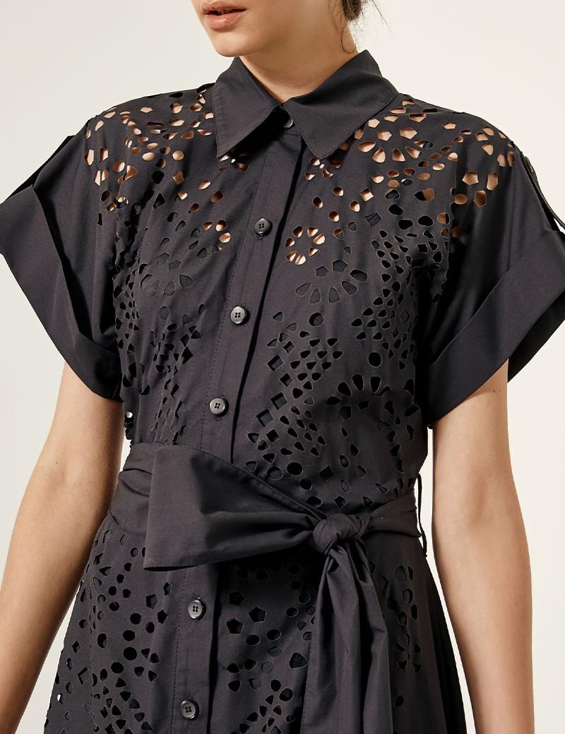 Φόρεμα σεμιζιέ με διάτρητο σχέδιο SPELL by ACCESS FASHION