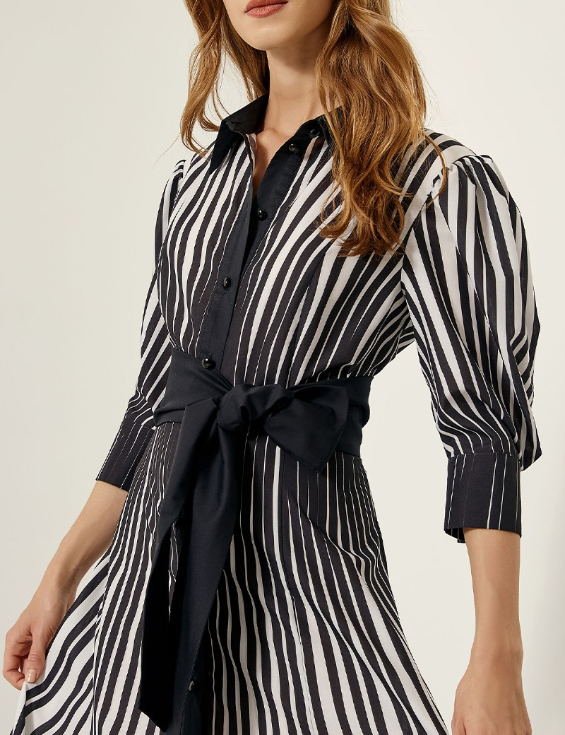 Φόρεμα σεμιζιέ με ρίγες SPELL by ACCESS FASHION