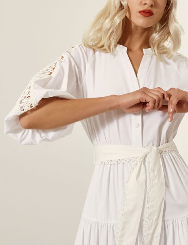 Φόρεμα σεμιζιέ με τρέσσα στο μανίκι ACCESS FASHION