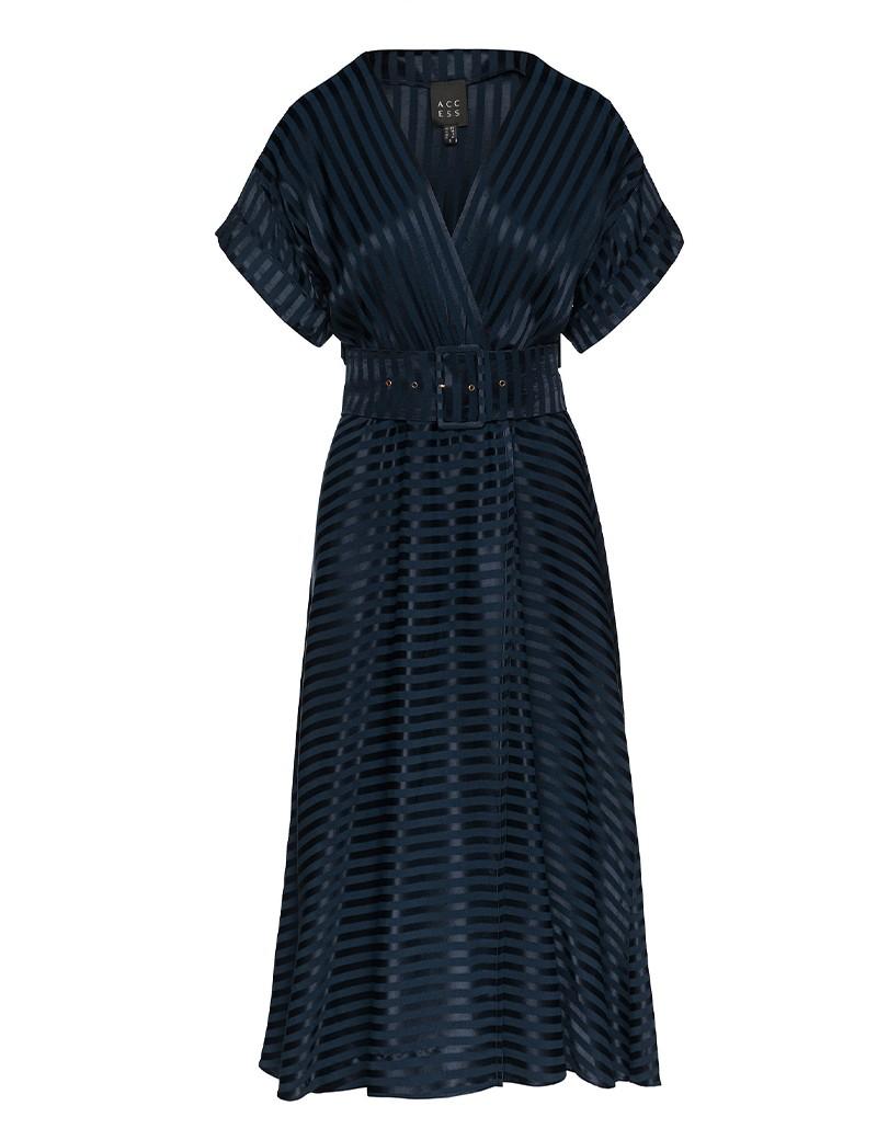 Φόρεμα ριγέ με γυαλιστερή όψη ACCESS FASHION