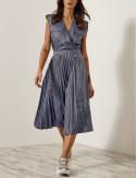 Φόρεμα ντένιμ look με πλισέ κάτω μέρος EIGHT by ACCESS FASHION