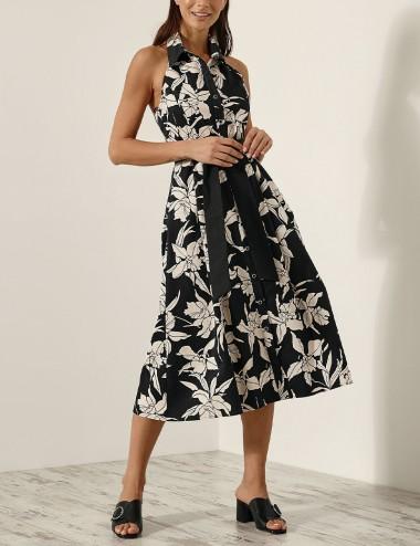 Φόρεμα κλος με ανοιχτή πλάτη