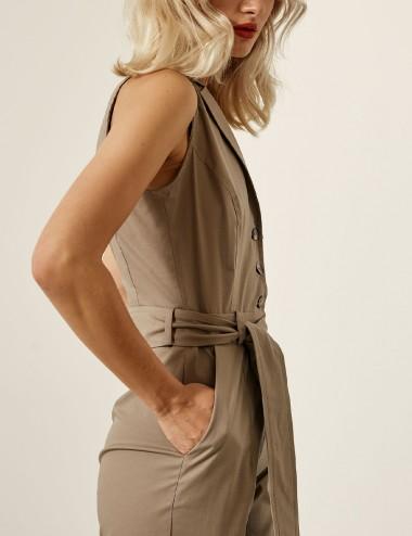 Φόρμα ολόσωμη  με πέτο γιακά ACCESS FASHION