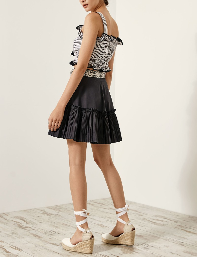 Mini skirt with pleated hem SPELL by ACCESS FASHION