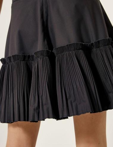 Φούστα μίνι με πλισέ τελείωμα SPELL by ACCESS FASHION