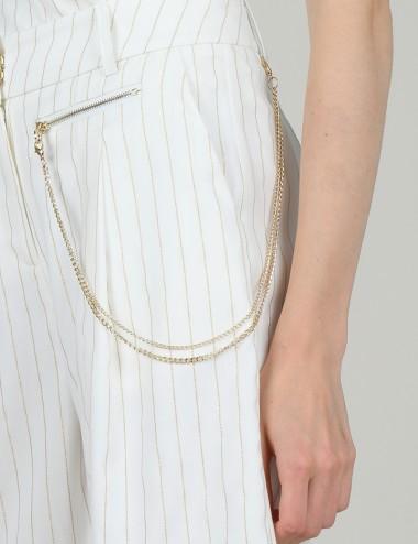 Σορτς με αλυσίδα και τσέπη LILI SIDONIO