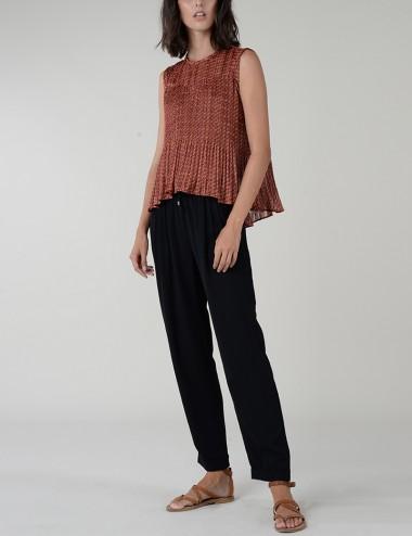 Μπλούζα πλισέ με print MOLLY BRACKEN