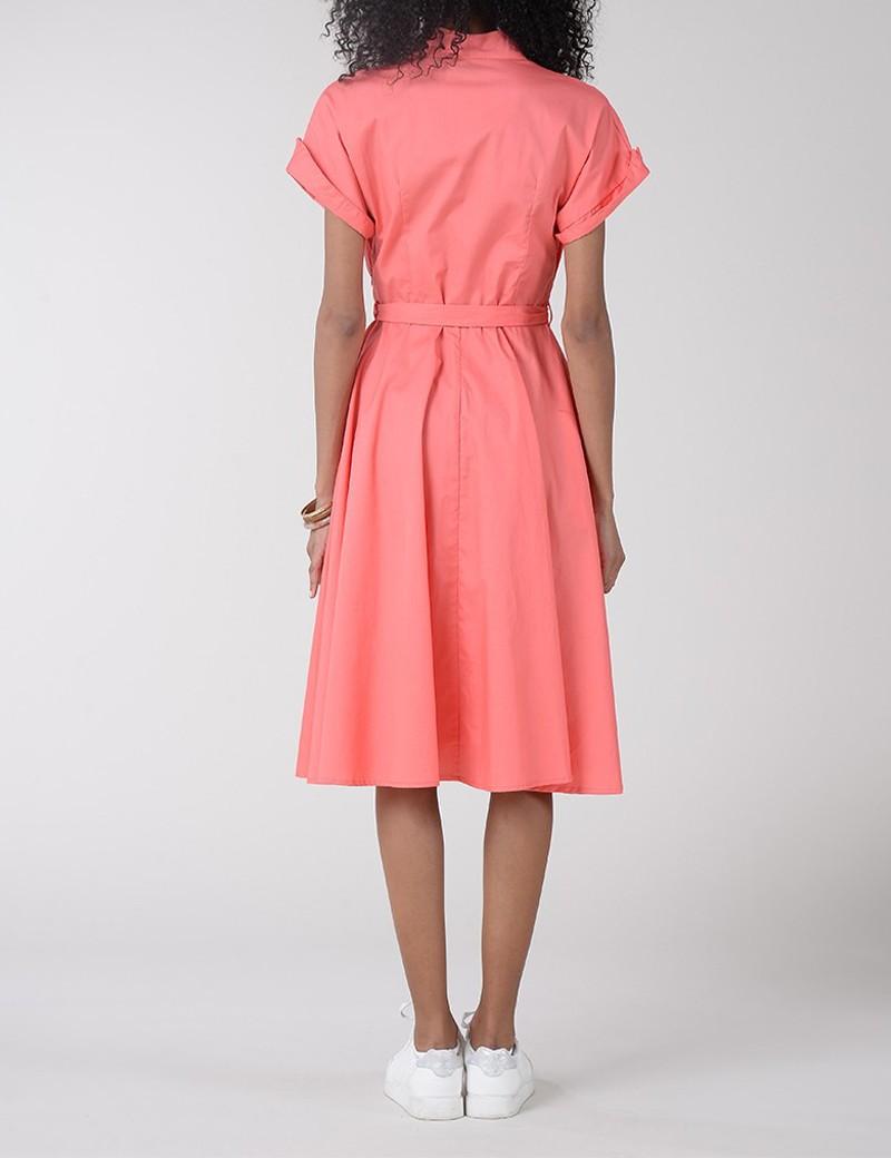 Φόρεμα βαμβακερό με κουμπάκια MOLLY BRACKEN