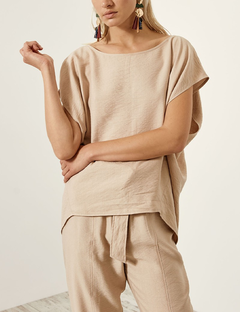 Blouse with creased look ACCESS FASHION