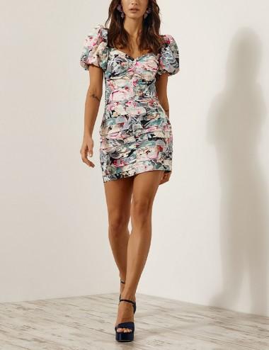 Φούστα μίνι με φλοράλ print SPELL by ACCESS FASHION