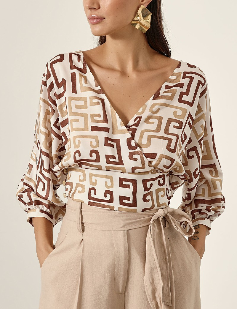 Crossover blouse with open back ACCESS FASHION