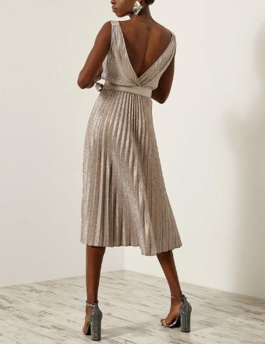 Φόρεμα πλισέ με ανοιχτή πλάτη ACCESS FASHION